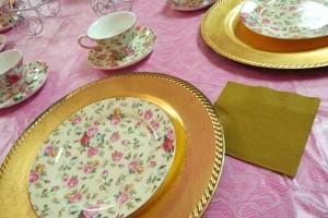Tea party plates